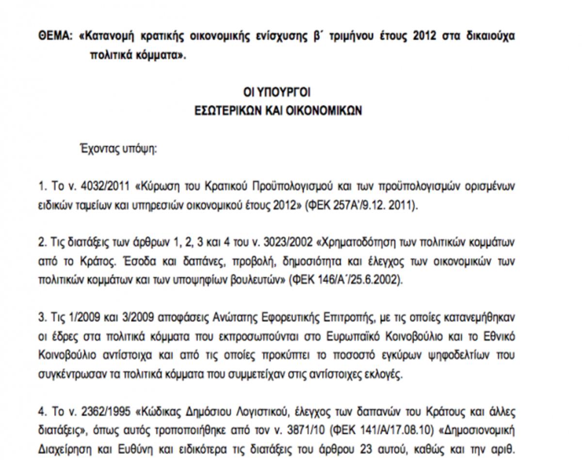 Τα κόμματα πήραν στις 2 Μαίου 7.720.000 ευρώ! Η δεύτερη δόση της κρατικής χρηματοδότησης | Newsit.gr