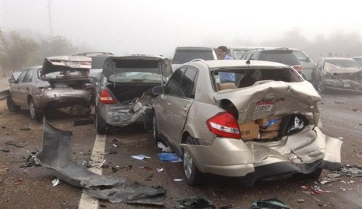 Καραμπόλα με έναν νεκρό και 61 τραυματίες | Newsit.gr
