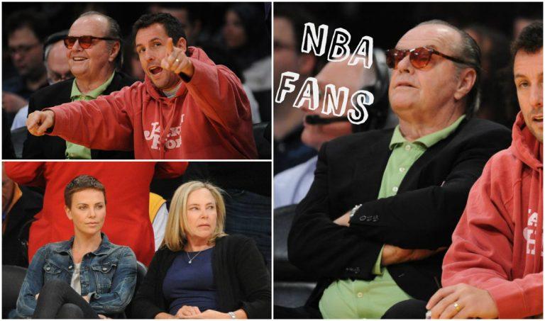 Οι star του hollywood πάνε γήπεδο! C. Theron, J. Nicholson και A. Sandler σε αγώνα μπάσκετ | Newsit.gr