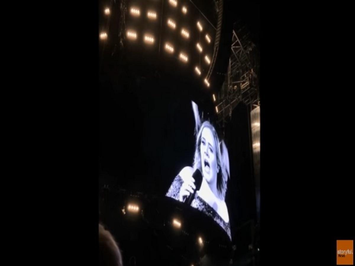 Χαμός σε συναυλία της Adele! Έτρεχε πανικόβλητη στη σκηνή [vid] | Newsit.gr