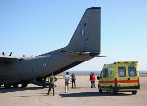 Διπλή αεροδιακομιδή της Πολεμικής Αεροπορίας για ένα βρέφος και έναν 66χρονο