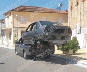 Πύργος: Στην καρότσα αγροτικού φόρτωσαν αυτοκίνητο!