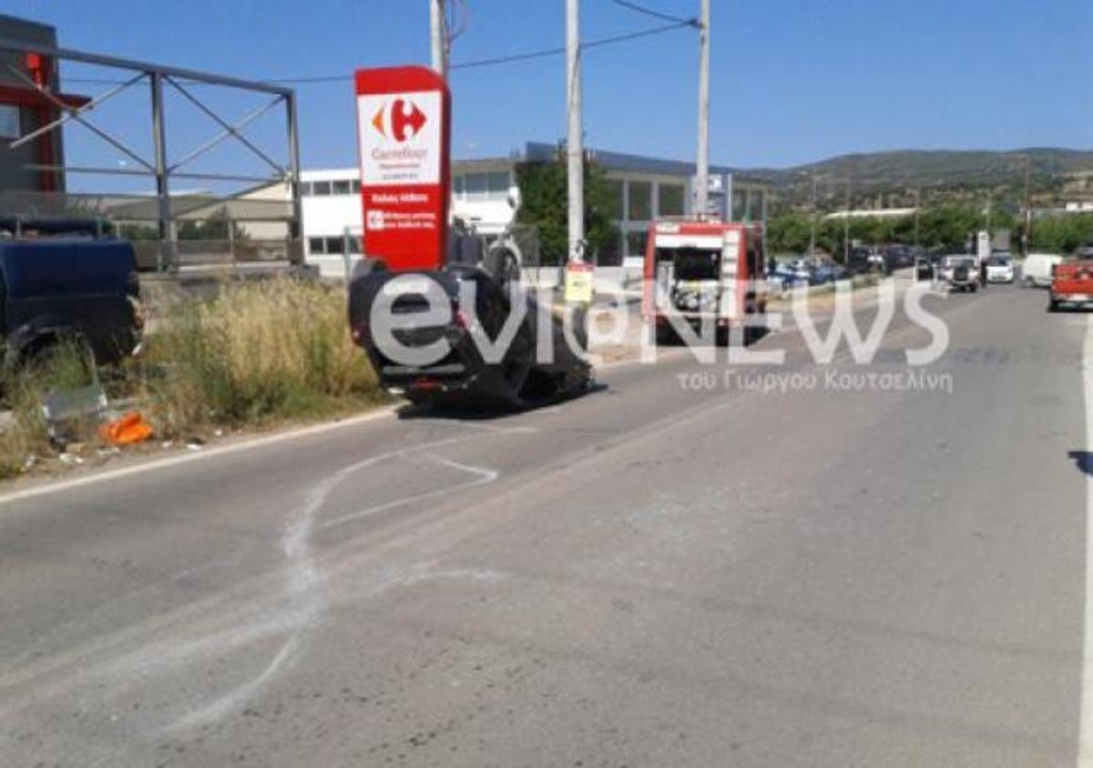 Εύβοια: Το αυτοκίνητο τούμπαρε μετά από τρελή πορεία   Newsit.gr