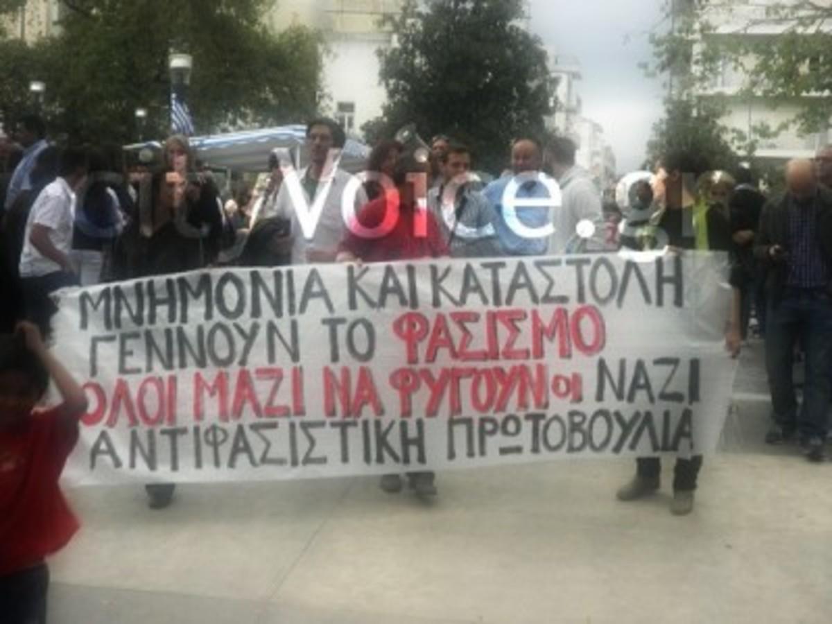 Αγρίνιο: Αντιφασιστική διαμαρτυρία στην παρέλαση της 28ης Οκτωβρίου | Newsit.gr