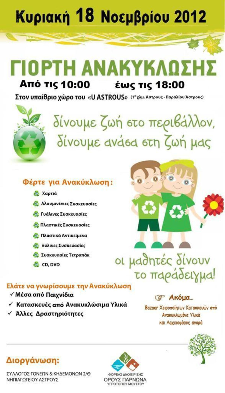 Γιορτή ανακύκλωσης στο Άστρος