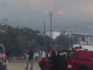 Μαίνεται η φωτιά στην Άνδρο – Κινδυνεύουν σπίτια – Μάχη με φλόγες και ανέμους [pics]