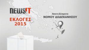 Αποτελέσματα Εκλογών 2015: Νομός Δωδεκανήσου