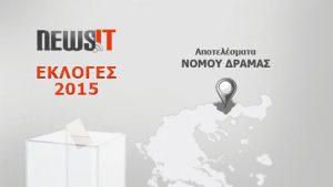 Αποτελέσματα Εκλογών 2015: Νομός Δράμας