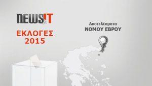 Αποτελέσματα Εκλογών 2015: Νομός Έβρου