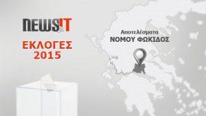 Αποτελέσματα Εκλογών 2015: Νομός Φωκίδας