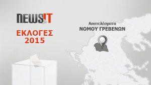 Αποτελέσματα Εκλογών 2015: Νομός Γρεβενών