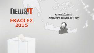 Αποτελέσματα Εκλογών 2015: Νομός Ηρακλείου