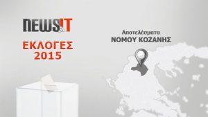 Αποτελέσματα Εκλογών 2015: Νομός Κοζάνης