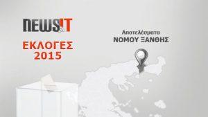 Αποτελέσματα Εκλογών 2015: Νομός Ξάνθης