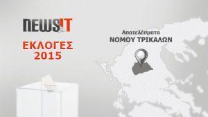 Αποτελέσματα Εκλογών 2015: Νομός Τρικάλων