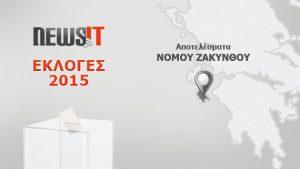 Αποτελέσματα Εκλογών 2015: Νομός Ζακύνθου