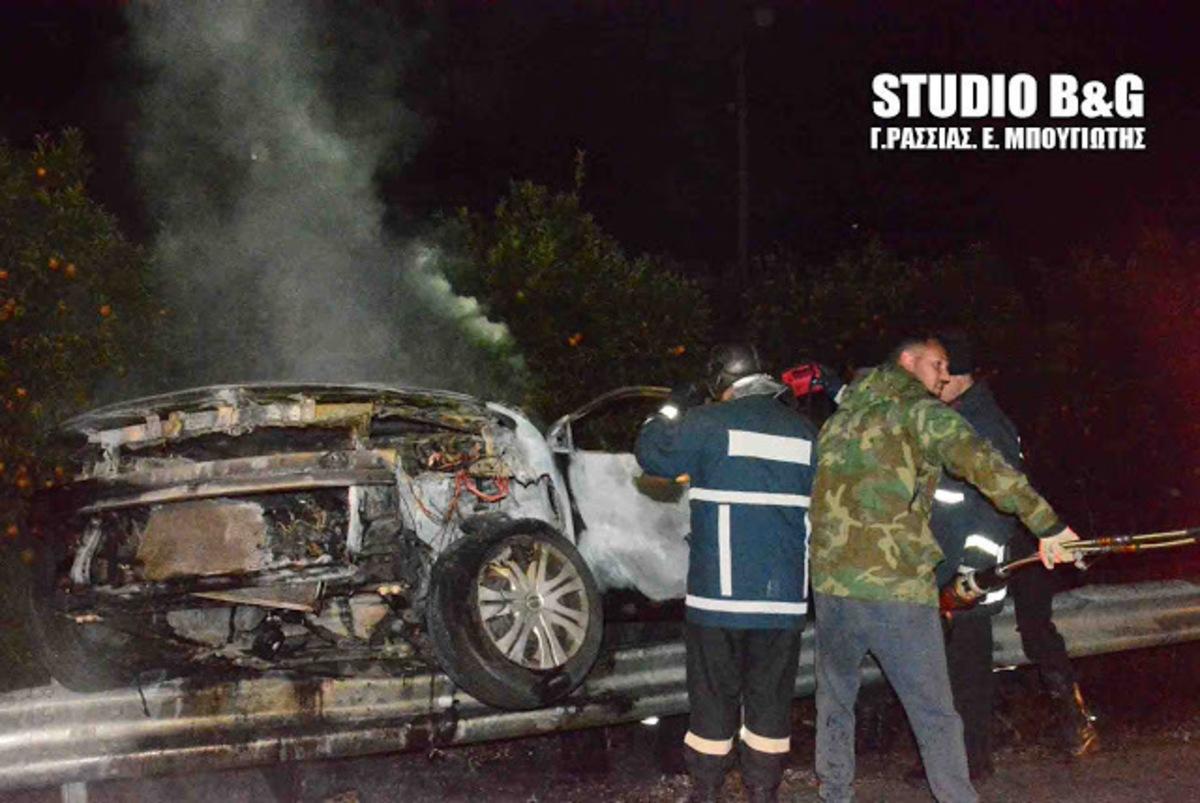 Οδηγός κάηκε ζωντανός στην εθνική οδό Άργους – Μυκηνών [pics] | Newsit.gr