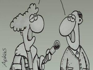 Debate πολιτικών αρχηγών: Το ξεκαρδιστικό σκίτσο του Αρκά!