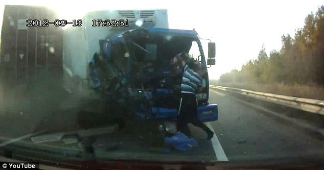 Ο πιο τυχερός οδηγός φορτηγού – ΔΕΙΤΕ ΤΟ VIDEO | Newsit.gr