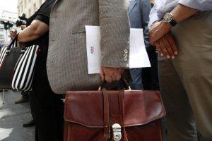 Διαμαρτυρία ασφαλιστών για τις τράπεζες στην Καβάλα