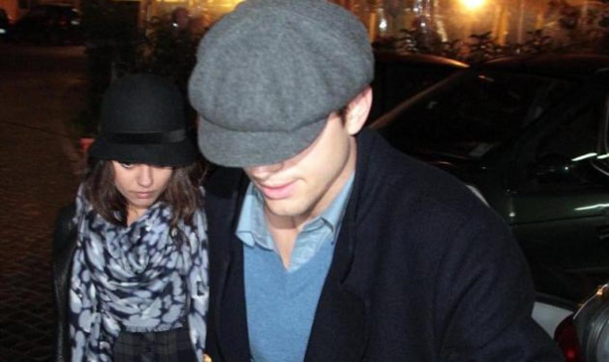 Αυτός είναι έρωτας! Mila Kunis και Ashton Kutcher απολαμβάνουν ρομαντικό δείπνο στην Ρώμη! | Newsit.gr