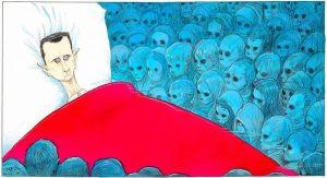 """Τα νεκρά παιδιά της Συρίας """"στοιχειώνουν"""" τον Άσαντ – Συγκλονιστικό σκίτσο [pic]"""
