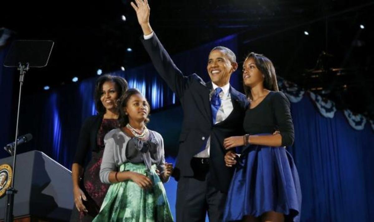 B. Obama: Οι πανηγυρισμοί για την επανεκλογή με τις τρεις γυναίκες της ζωής του! Φωτογραφίες | Newsit.gr