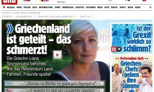 Δημοψήφισμα: Πρωτοσέλιδο της Bild στα ελληνικά – «Πονάω βλέποντας διχασμένη την Ελλάδα»