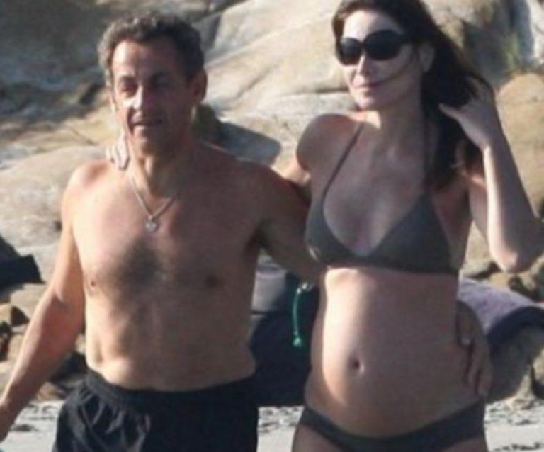 Η Carla Bruni με μπικίνι μας δείχνει την φουσκωμένη κοιλίτσα της! | Newsit.gr