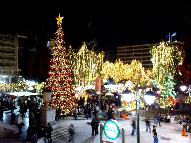 Η Αθήνα στόλισε Χριστουγεννιάτικο δέντρο!Το ΝewsIt  ήταν  εκεί! | Newsit.gr