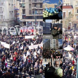 Αγροτικό συλλαλητήριο: Ήλθαν, μοίρασαν λάχανα και έφυγαν [pics, vids]