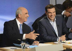 Debate πολιτικών αρχηγών: Τσίπρας – Μεϊμαράκης περνούν ωραία… παρέα! ΦΩΤΟ