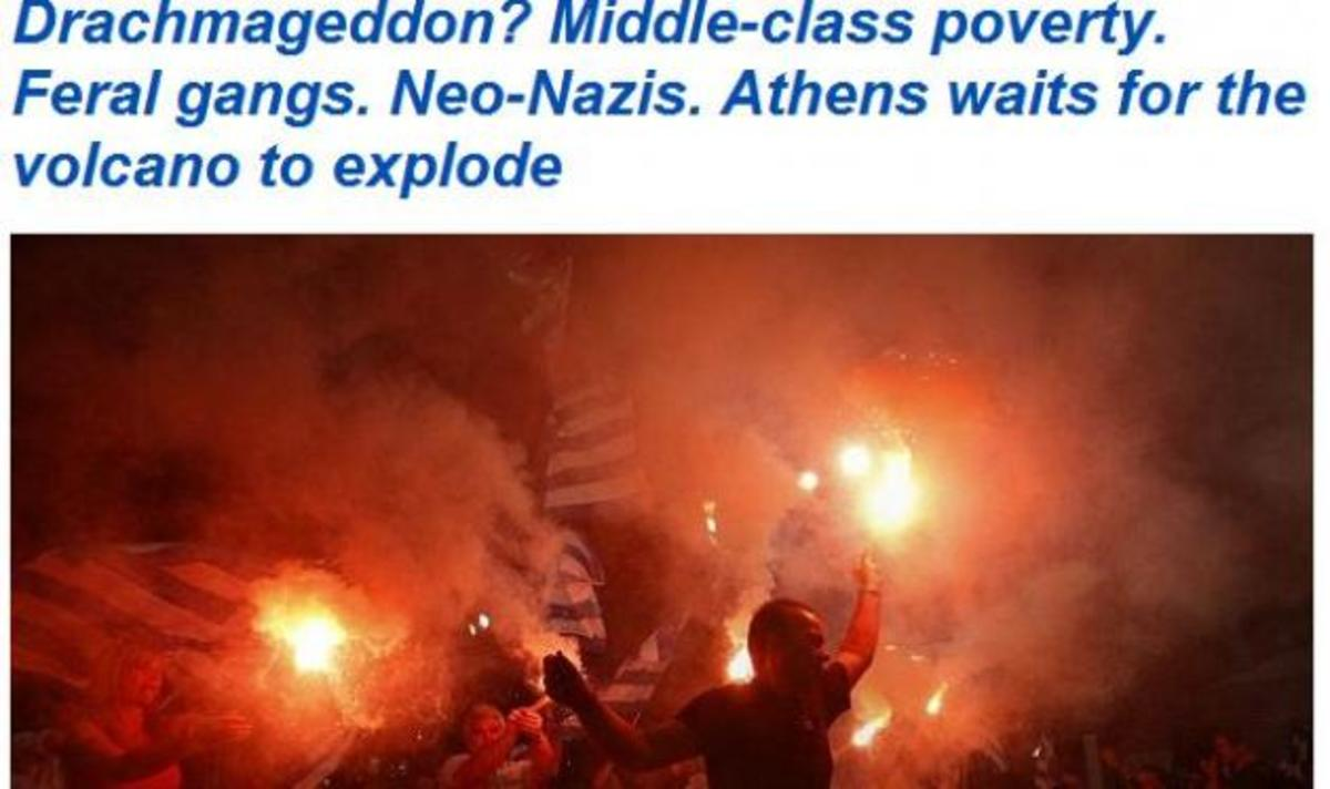 D. Mail για Ελλάδα: Drachmageddon! Στην Αθήνα περιμένουν το ηφαίστειο να εκραγεί!   Newsit.gr