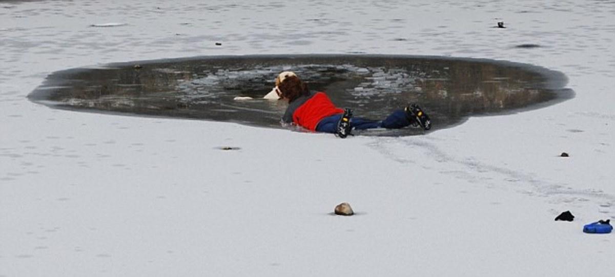 Επεσε στην παγωμένη λίμνη για να σώσει τον σκύλο της – Συγκλονιστικές φωτο | Newsit.gr
