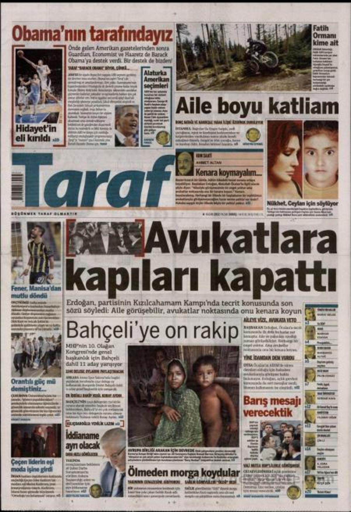 O τουρκικός Τύπος σήμερα 04-11-2012   Newsit.gr