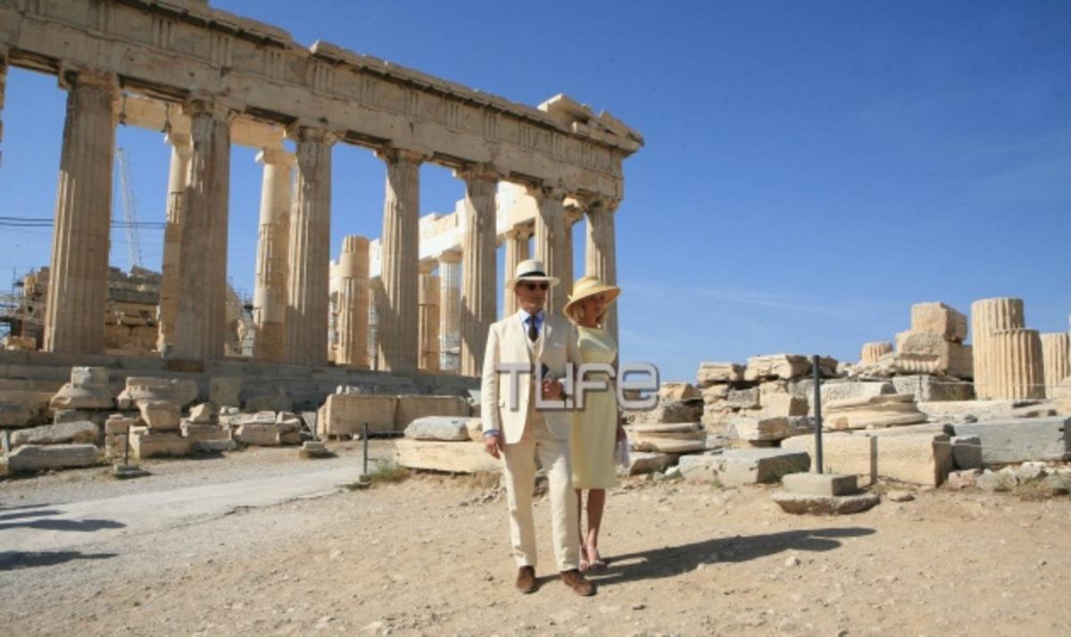 K. Dunst: Στην Ακρόπολη με τον  V. Mortensen για τα γυρίσματα της νέας τους ταινίας! Φωτογραφίες | Newsit.gr