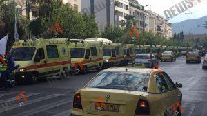 Γέμισε ΕΚΑΒ η Βουλή! Εργαζόμενοι στα ασθενοφόρα καταγγέλουν ιδιωτικοποίηση των αεροδιακομιδών!