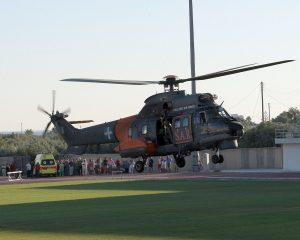 Αερομεταφορά ασθενών με ελικόπτερο του στρατού
