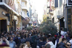 Καιρός για βόλτα, ανοιχτά μαγαζιά και… φίσκα η Ερμού! (ΦΩΤΟ)