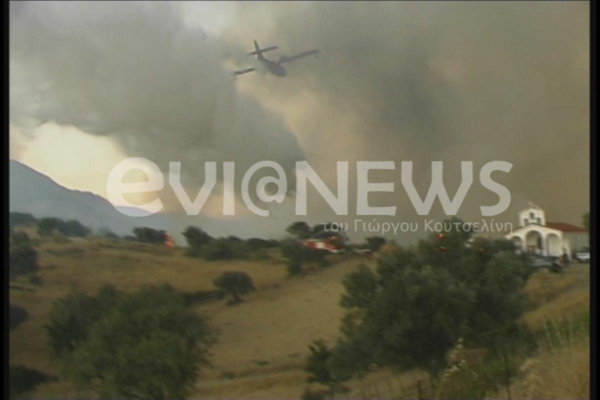 Μάχη για να μην απειληθούν σπίτια στην Αρκίτσα – Περιορίζεται η φωτιά στην Κύμη – Κάηκε τουλάχιστον ένα σπίτι στον οικισμό Κορασίδα στην Εύβοια | Newsit.gr