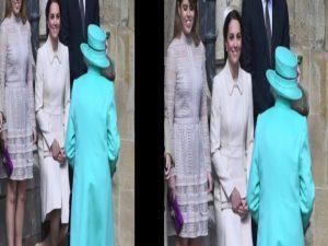 Έλαμψε στα τιρκουάζ η βασίλισσα Ελισάβετ – Η υπόκλιση της «θαμπής» Κέιτ Μίντλετον [pics, vid]