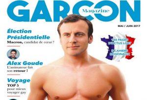 """Ο Μακρόν """"πρωταγωνιστεί"""" σε εξώφυλλο γκέι περιοδικού! [pic]"""