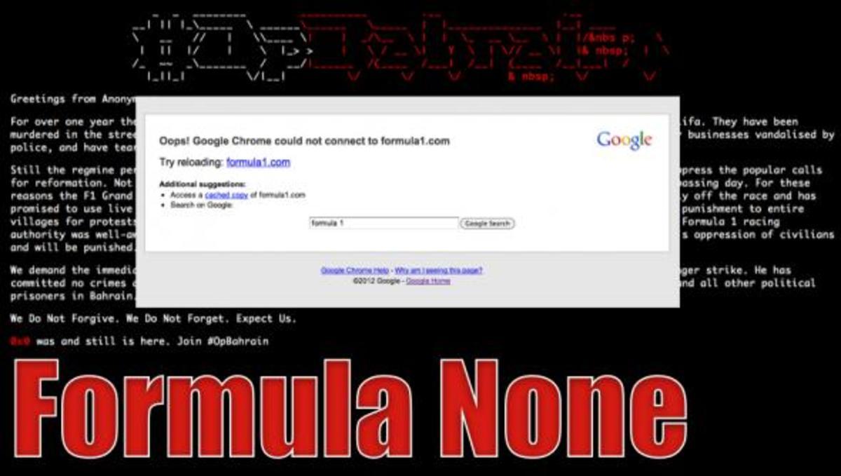 Επίθεση των Anonymous στο site της φόρμουλα! | Newsit.gr