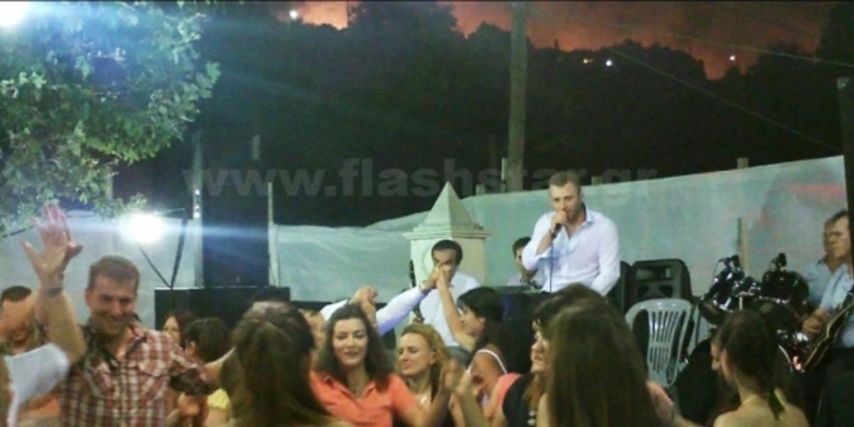 Αχαϊα: Το ντοκουμέντο της φωτιάς – Καιγόταν το δάσος και ο κόσμος χόρευε! | Newsit.gr