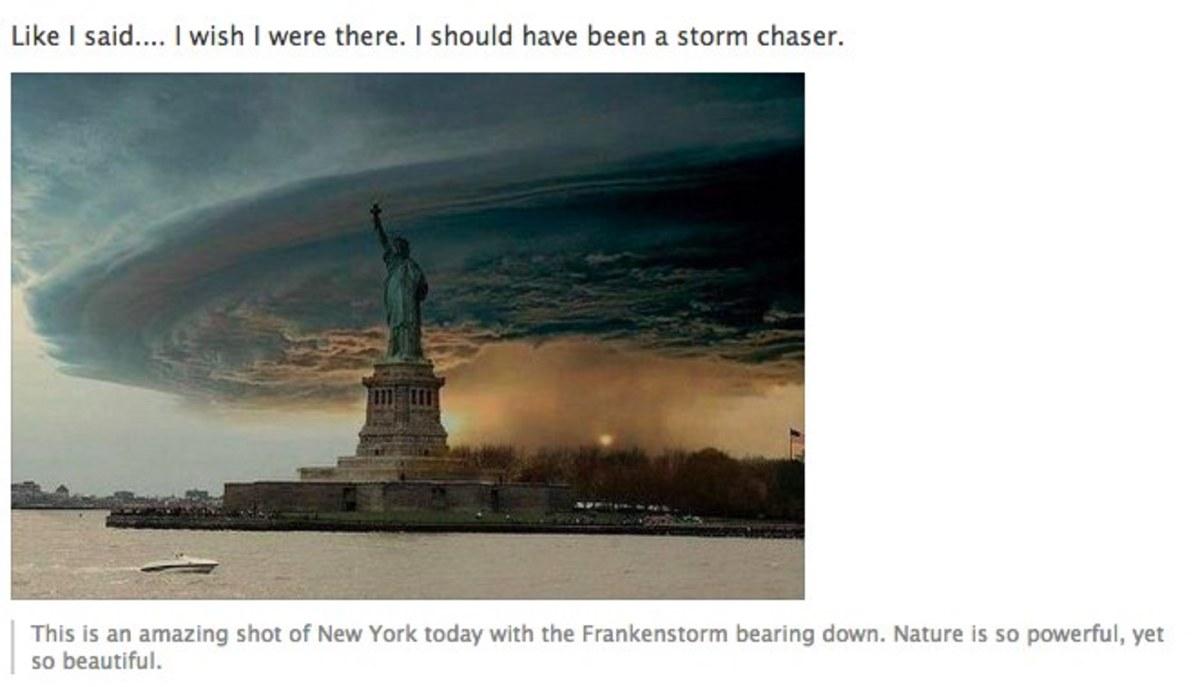 Οι μαϊμού φωτογραφίες από τον τυφώνα Σάντυ! | Newsit.gr