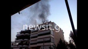 Τραγωδία στο Μοσχάτο! Νεκρή ηλικιωμένη από φωτιά στο διαμέρισμά της [pics,vid]