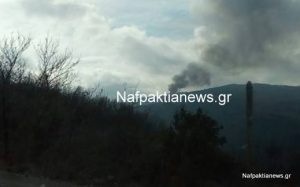 Ναύπακτος: Μεγάλη φωτιά τώρα στην Ιερά Μονή Βαρνάκοβας!