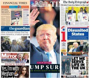 """Ντόναλντ Τραμπ: """"Διασπασμένες Πολιτείες Αμερικής""""! Συγκλονιστικά πρωτοσέλιδα [pics]"""