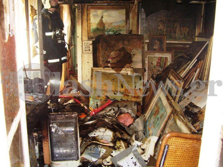 Xανιά: Πυρκαγιά στο εργαστήριο ζωγραφικής του Γ.Λουράκη –  Φωτό   Newsit.gr