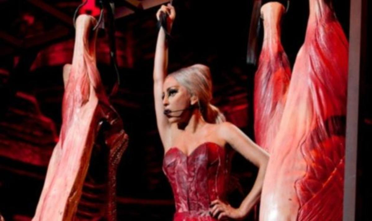 Ωχ!  Κι άλλο φόρεμα-μπριζόλα φόρεσε η Lady Gaga! | Newsit.gr